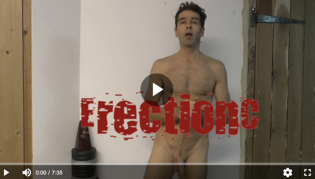 the erection coach naked in a training video