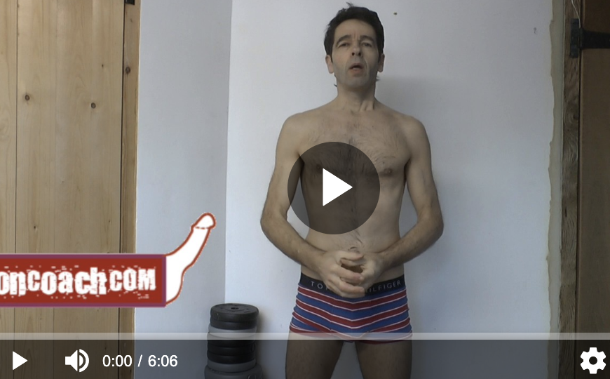 erection coach in video still in boxers talking about am I gay